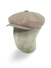 Brown Prince of Wales Checked Cotton Gatsby Cap