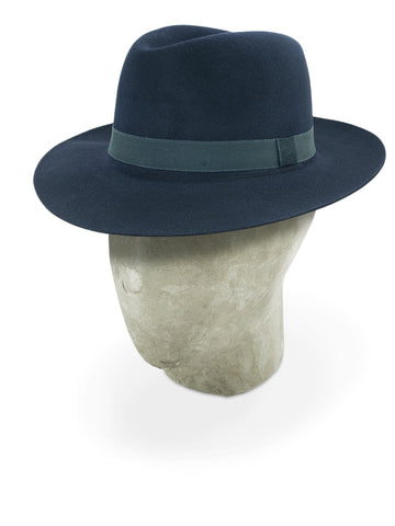 Midnight Blue Grafton Fedora