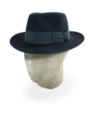 Navy Blue Grosvenor Fedora