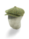 Green & Cream Herringbone Wool Gatsby Cap