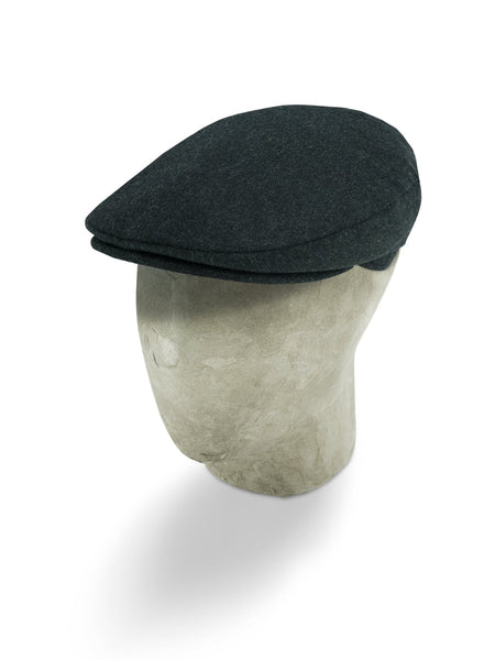 Dark Grey Loden Flat Cap