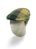 Navy, Green & Beige Checked Woollen Herringbone Harlem Cap