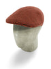 Red & Brown Birdseye Knitted Cashmere Flat Cap