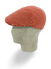 Red & White Birdseye Knitted Cashmere Flat Cap