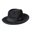 Black Peach Bloom Fedora Hat