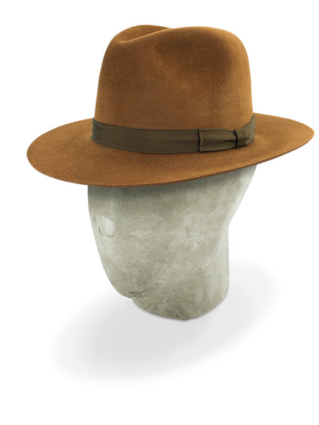 Brown Pioneer Fedora Hat