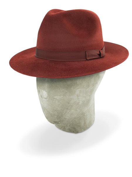 Burnt Red Pioneer Fedora