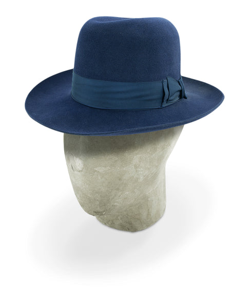 Electric Blue Poet Fedora