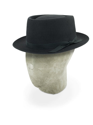 Dark Grey Pork Pie Trilby