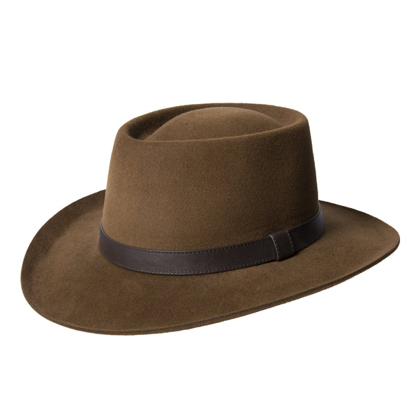 Brown Rancher Fedora Hat