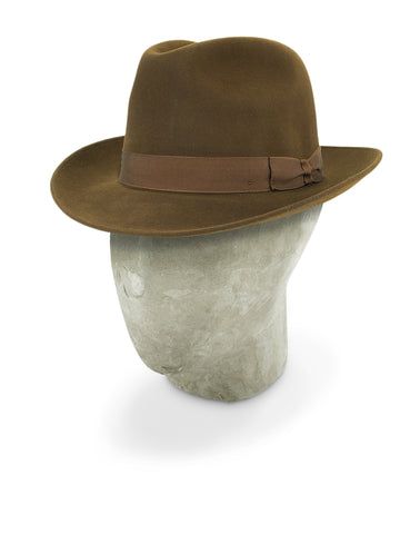 Mid Brown Rivoli Trilby