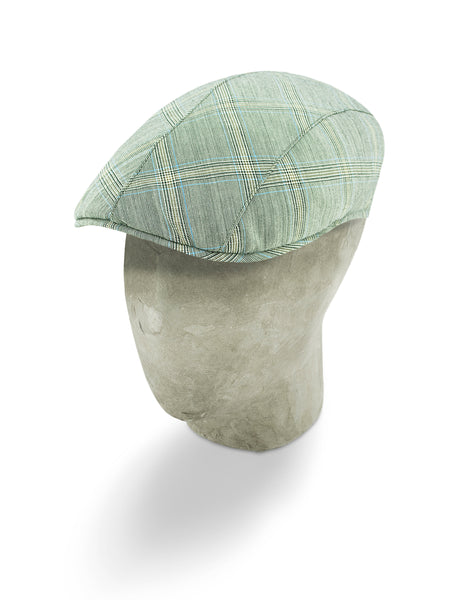 Grey Wool Roma Flat Cap