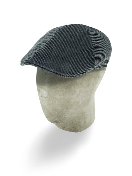 Grey Corduroy Cotton Roma Cap
