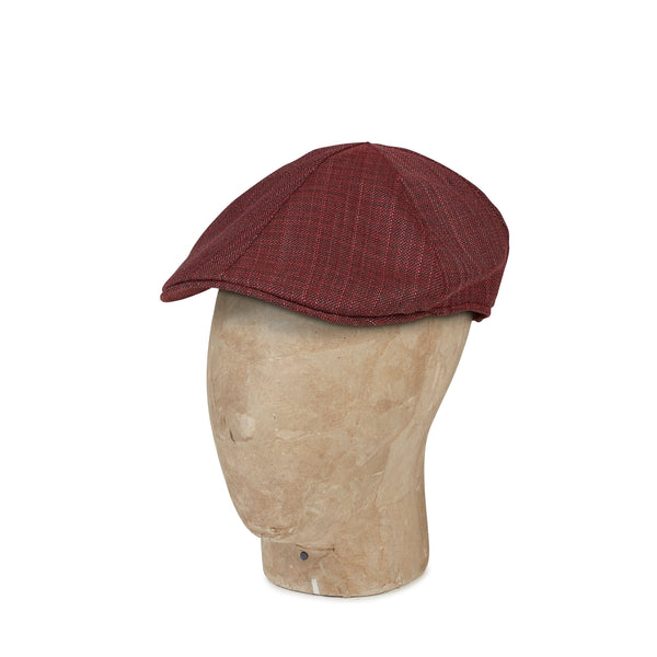 Plain Red Wool, Linen & Silk Mix Roma Cap