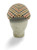 Beige, Navy, Red & Brown Check Woollen Twill Roma Cap