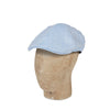 Plain Light Blue Linen Herringbone Roma Cap