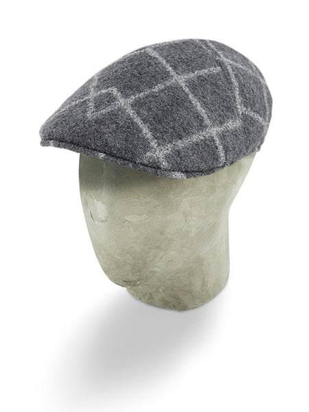 Grey Woollen Twill With A White Overcheck Roma Cap