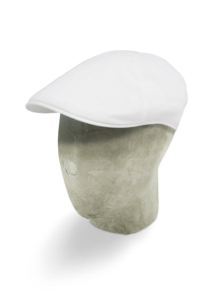Plain White Cotton Roma Cap