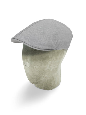 Plain Grey Wool Roma Cap