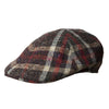 Navy, Red & Orange Checked Woollen Roma Cap