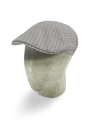 Grey & Brown Checked Woollen Roma Cap