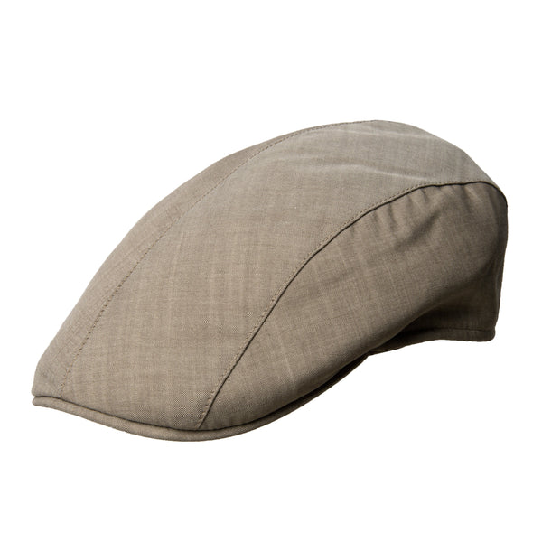 Plain Brown Cotton Roma Cap