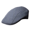 Plain Blue Cotton Roma Cap