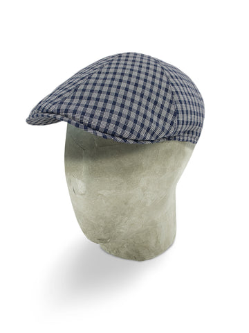 Blue Twill Wool/Cotton Mix Roma Cap