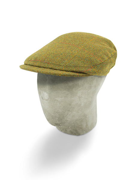 Green Twill Wool Sandown Cap