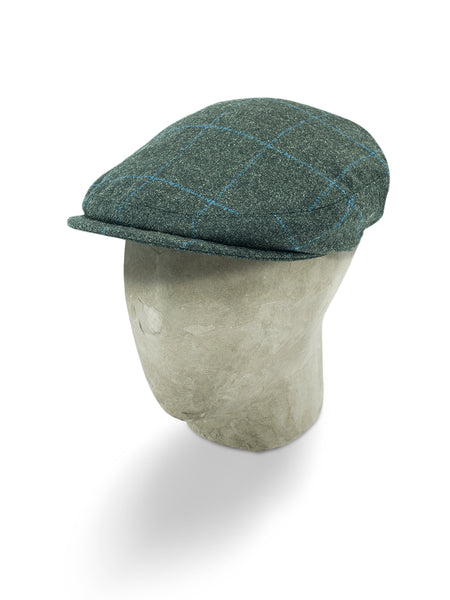 Grey Twill Wool Sandown Cap