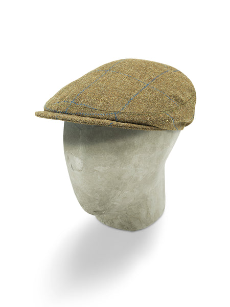 Brown Herringbone Wool Sandown Cap
