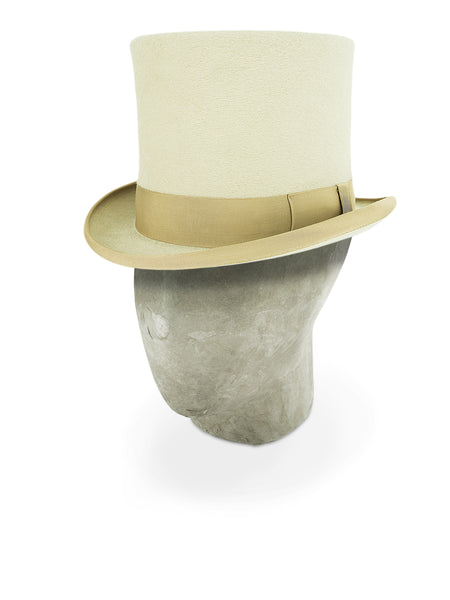 Cream Tall Top Hat