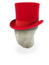 Red Tall Top Hat