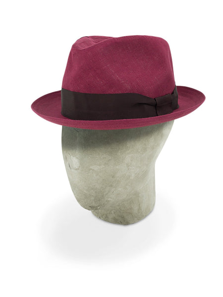 Burgundy Cotton Tennor Hat