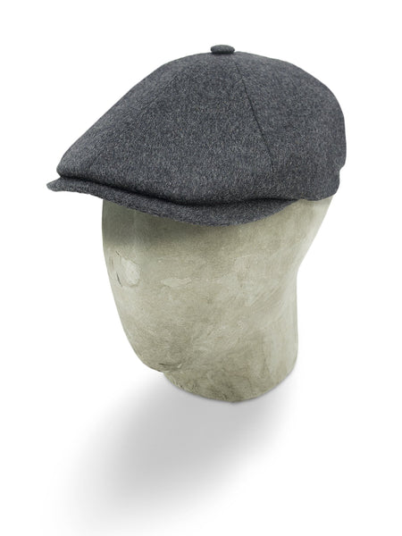 Plain Light Grey Woollen Loden Toni Cap