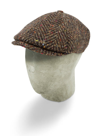 Brown Mottle Woollen Herringbone Toni Cap