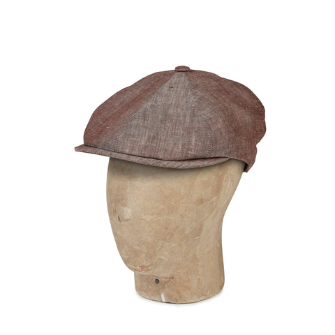 Plain Brown Linen Toni Cap