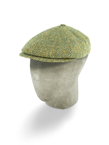 Yellow Herringbone Wool Toni Cap