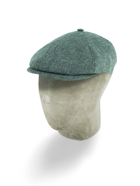 Grey Twill Wool/Cashmere Mix Toni Cap