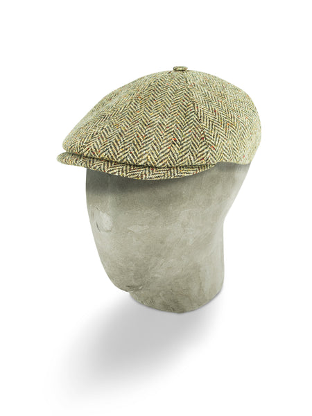 Cream Herringbone Wool Toni Cap