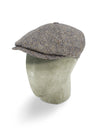 Brown Herringbone Wool Toni Cap
