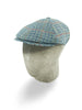 Blue Houdstooth Check Woollen Toni Cap