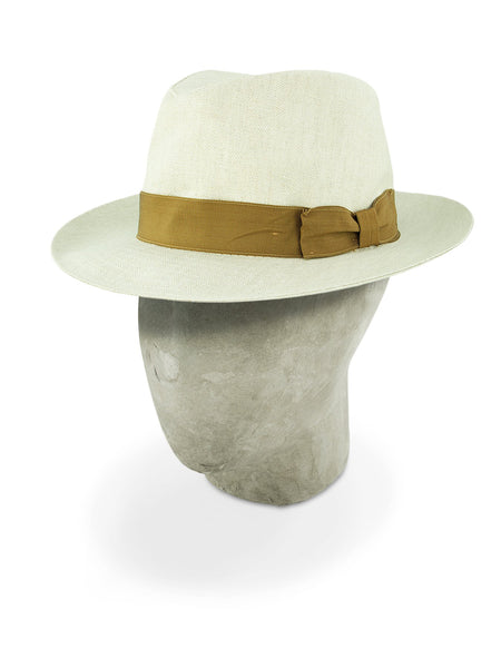 Beige Cotton Travel Trilby