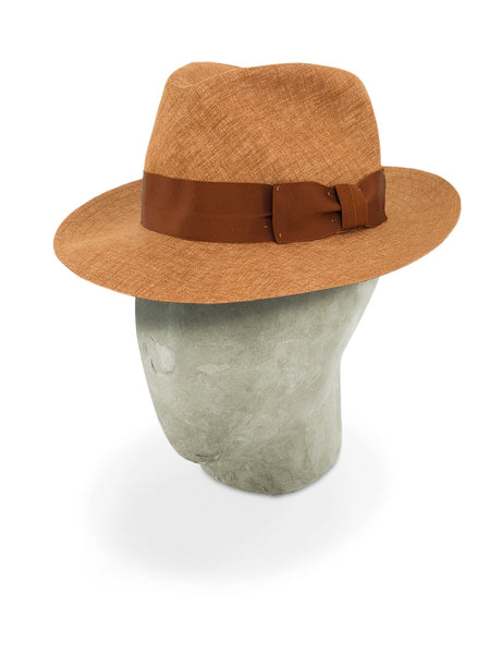 Rust Orange Cotton Travel Trilby