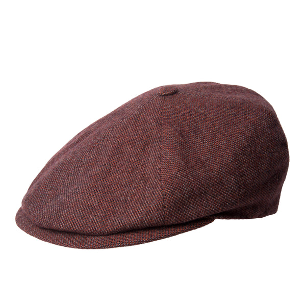 Red Twill Wool/Cashmere Mix Toni Cap