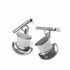 Silver Top Hat & Cane Cufflinks