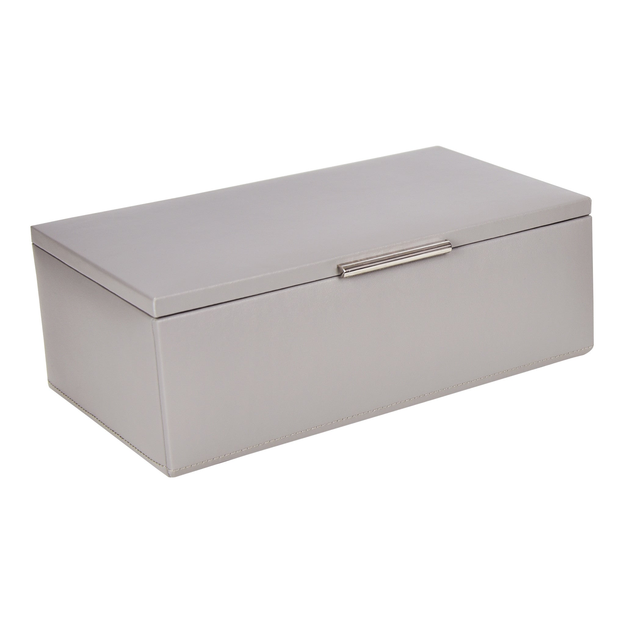 Medium Leather Jewel Box in Grey