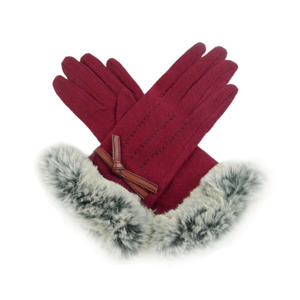 Gloves with Fur Cuff