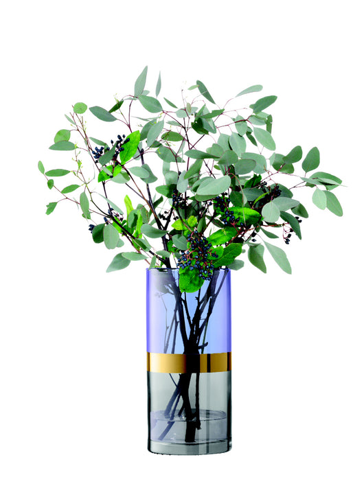 Bangle Vase in Blueberry by LSA