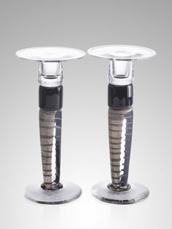 Pair of Platinum Candlesticks by Allister Malcolm